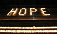 Luminaria bags light the night with hope and inspiration at the annual Relay for Life of White Bear Lake event.