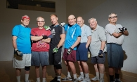 The men of the White Bear Lake YMCA handball group.