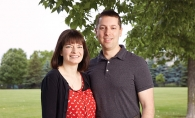 Mahtomedi couple Becky and Craig Markovitz, who are fundraising to build Aaron's Playground in honor of their late son.