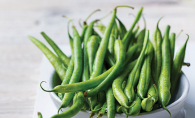 Fresh green beans from the White Bear Lake farmers' market.