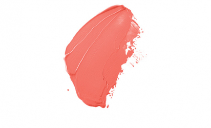 A dab of Living Coral paint, Pantone's color of the year