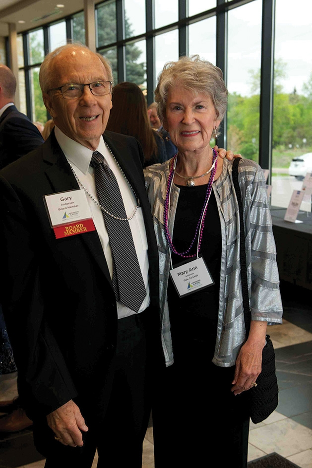 Gary & Mary Ann Anderson at the Lakeshore Players Theatre Annual Fundraiser