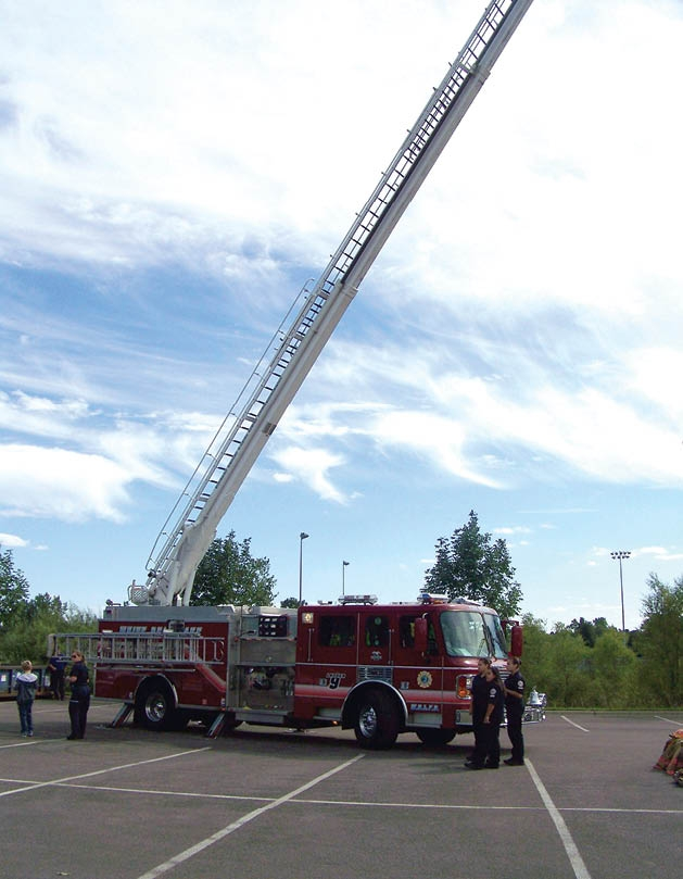 Local firefighters were on hand to answer questions