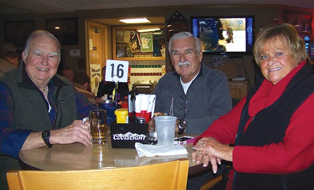 Sylvester Bendel and Don and Judy Brisson