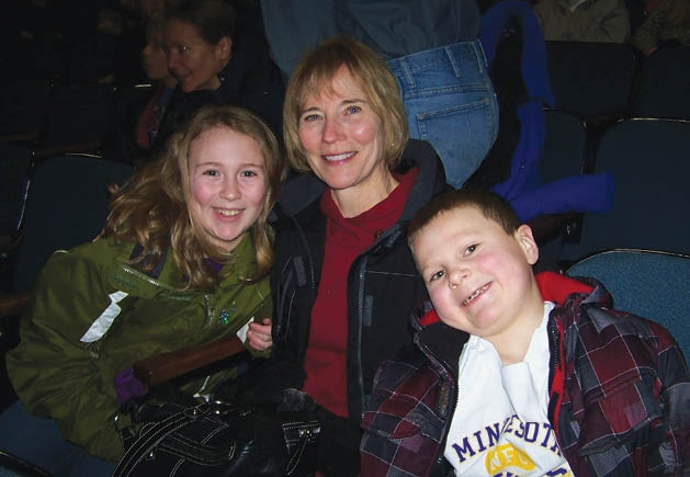Grace and Cole Stewart, and Laurie Noll
