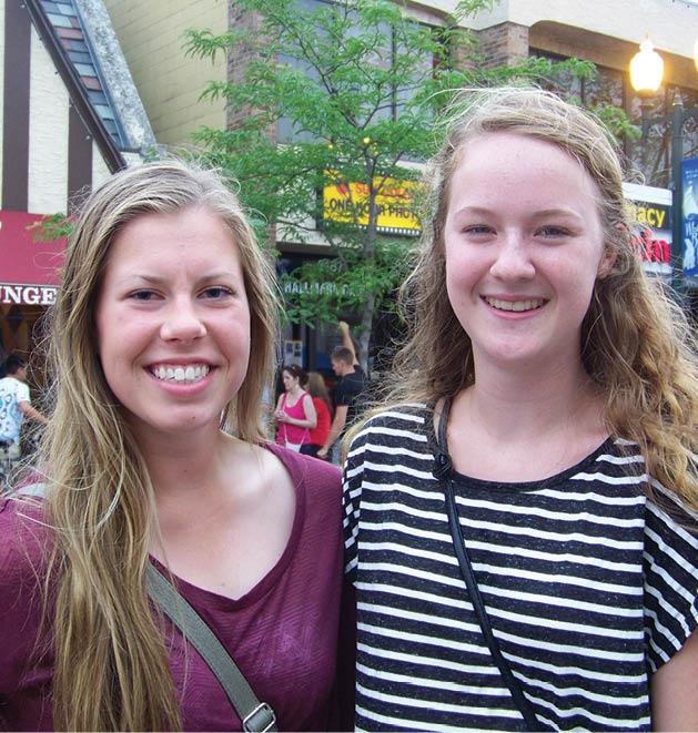 Brooke Olson and Katie Clements