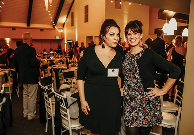 Vanessa Lara, Valerie Mackenthun at the Solid Ground Gala