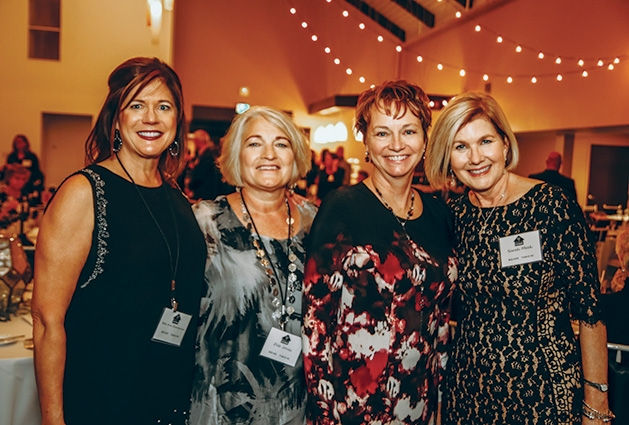 9 Beth Ann Zimmerman, Deb Jones, Julie Ruether, Sarah Meek at the Solid Ground Gala