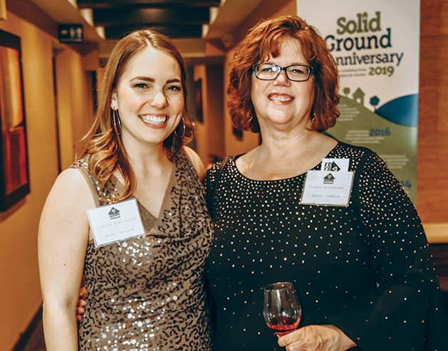 Lizzie Rainville, Trisha C. Kauffman at the Solid Ground Gala