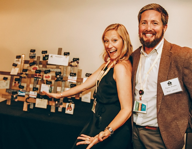 Kim Sandbulte, Ryan Drake at the Solid Ground Gala