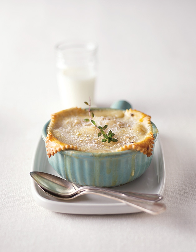 A pot pie cooked and styled by foodesign