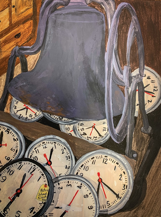 """""""Time is Running Out,"""" a painting by White Bear Lake Area High School student Lauren Martin"""