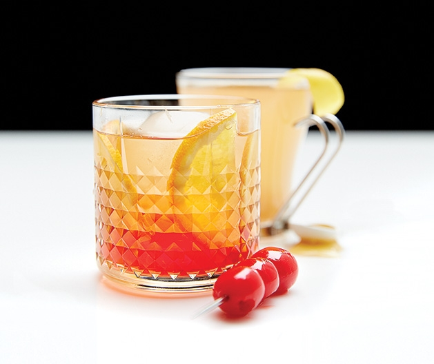 A Nordic toddy and aquavit old-fashioned, cocktail recipes from Elevated Beer Wine & Spirits White Bear Lake