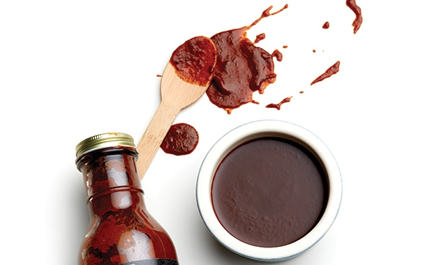 A bottle of Pa's Sauce and Such Barbecue Sauce