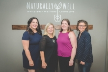 Naturally Well White Bear Wellness Collective practice owners Lauren Robbins, Amber Moravec, Amber Hanson, Patty Nelson