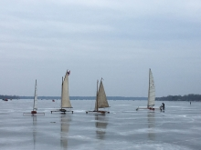 Ice boats on White Bear Lake