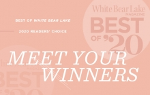 A graphic announcing the White Bear Lake Magazine Best of White Bear Lake 2020.