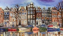Amsterdam, a painting by White Bear Lake Area High School student Cole Kephart