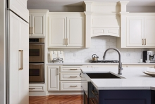 An remodeled kitchen designed by Molly Howe Design.