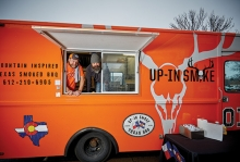 The Up In Smoke food truck in White Bear Lake