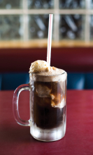 A root beer float from the 4 Seasons restaurant