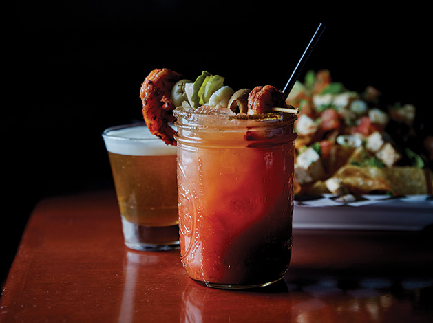 A bloody mary from Lakes Tavern in Woodbury